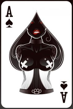ace of spades - Are these real cards? Bd Art, Illustration Art, Illustrations, Deck Of Cards, Dark Art, Fantasy Art, Cool Art, Awesome Art, Street Art