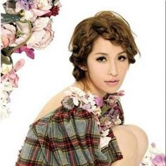 #Hairstyle #Braid #Brunette #AsianHair #FineHair #Short #Fashion Svarttjern  http://whosin.com/hairstyle