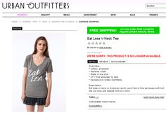 Urban Outfitters Eat Less Shirt: Controversial Clothing