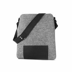 FILCOWA TORBA JUNIOR 04 czarny zamek na ramię #feltbag #bag #shoulderbag #gray #black #leather #malebag
