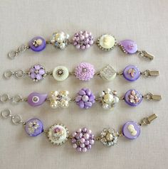 Lavender lilac white ivory pearl cameo by ChicMaddiesBoutique