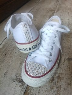 Front and back Swarovski and faux pearl low Converse 711884279
