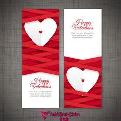 Sevgililer Günü Bannerları Vector İndir - Vektörel Çizim indir,Vektörel İndir,Cdr,Corel Draw indir,Vektör indir