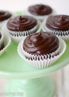 These are the BEST Chocolate Cupcakes Ever! Filled with cinnamon whipped cream, the chocolate frosting is to die for!