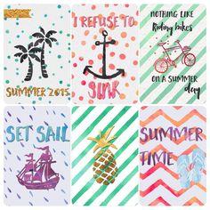 Free Summer Journal Cards