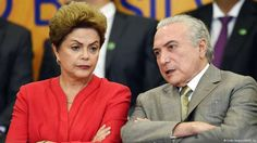 Dilma Rousseff e o vice-presidente Michel Temer, do PMDB