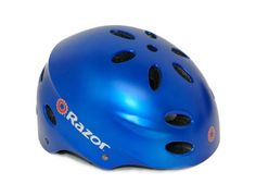 Razor V-17 Youth Multi-Sport Helmet, Satin Blue - The Razor V-17 multi sport helmet unites superior quality with a cutting edge design .. Your perfect choice for biking, skating or any other sport that requires protective headgear. On the street or in the half pipe the Razor V-17 provides you with superior security and protection. The ergonomic ...