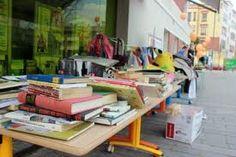 Una imagen del Mercado del Trueque.. una actividad que organizamos junto con el Consejo Local de la Juventud