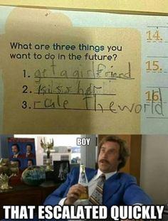 Kid's goals. ^_^