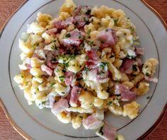 Ravioli, Pasta Salad, Potato Salad, Main Dishes, Food And Drink, Potatoes, Cooking, Ethnic Recipes, Crab Pasta Salad