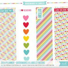 FREE Printable Bookmarks and Labels! | MissTiina.com {Blog}