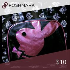 Playboy bunny hand bag Cute leather zip up trendy hand bag  with zipper pocket inside and cell phone pocket features a metallic pink glittery play boy bunny on front perfect for all occasions. playboy  Bags Mini Bags