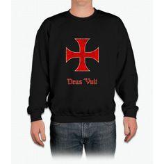 Deus Vult Crusader Templar Cross Crewneck Sweatshirt