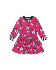Double Skirt Dress- Unicorn Print Unicorn Print, Fair Trade, Pretty Dresses, Dress Skirt, Ruffles, Floral Tops, Girl Outfits, Girly, Skirts
