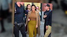 Kim Kardashian luce traje con tonos similares en Nueva York