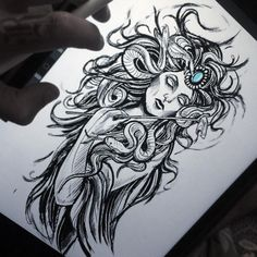 Drawing tattoo sketches feathers 56 new Ideas P Tattoo, Line Tattoos, Body Art Tattoos, Sleeve Tattoos, Medusa Tattoo Design, Tattoo Designs, Tattoo Sketches, Tattoo Drawings, Medusa Drawing