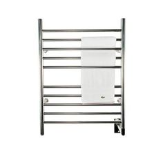 null Radiant Straight Hardwired 24 in. W x 32 in. H 10-Bar Electric Towel Warmer in Polished Stainless Steel