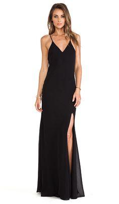 Lovers + Friends Maybe Tomorrow Maxi Dress in Black