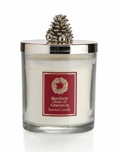 Mandarin, Cinnamon & Clove Lidded Large Filled Candle - Marks & Spencer
