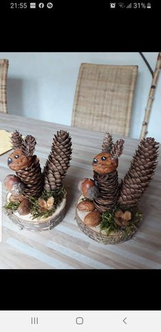 Autumn Crafts, Fall Crafts For Kids, Nature Crafts, Diy For Kids, Home Crafts, Crafts To Make, Fun Crafts, Arts And Crafts, Pine Cone Art