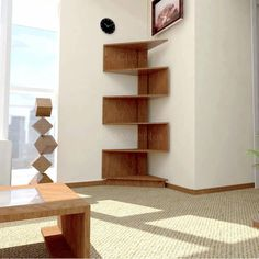 Wall Shelf Decor, Wall Shelves Design, Furniture Decor, Furniture Design, Simple Furniture, Interior Design Living Room, Living Room Decor, White Interior Design, Diy Holz