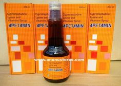 Apetamin contains a unique combination of Cyproheptadine Lysine and Vitamins Cyproheptadine and lysine being essential in limiting amino acid helpsText/Call : Weight Gain Supplements, Amino Acid Supplements, Online Pharmacy, Amazon Gifts, Amino Acids, Pills, Syrup, Health And Beauty, Pure Products