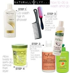 NATURALLY FLYY...how to do a wash and go