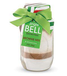 jingle bell brownies mix Christmas Food Hampers, Hamper Ideas, Chasing Fireflies, Jingle Bells, Brownies, Wine Glass, Gift Ideas, Holidays, Tableware