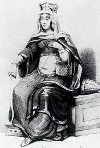 Bertrada of Laon - 32nd Paternal Great Grandmother and mother of Charlemagne.