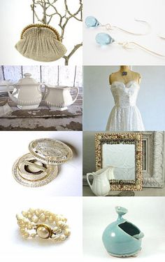Something old, something new.... by VintageShelfAndWall--Pinned with TreasuryPin.com