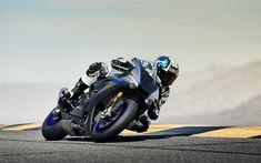 Download wallpapers Yamaha YZF-R1M, 2018, new sportbike, racing track, Japanese motorcycles, 4k, Yamaha