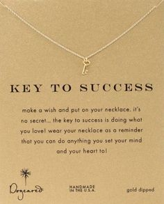 """""""Key To Success"""" Pendant Necklace. Graduation gifts for girls #giftsforgrads Graduation gifts"""
