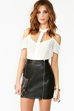 Shortcut Chiffon Blouse---Perfect Party Outfit!