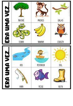 FICHAS PARA PRODUÇÃO DE TEXTO Preschool Colors, Learn Portuguese, Father's Day Diy, Jumper, Home Schooling, Teaching Materials, Teaching Spanish, Conte, Kids Education