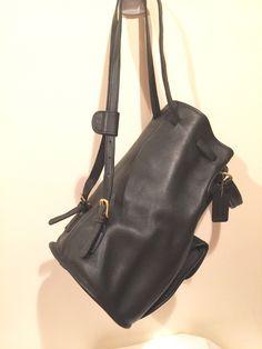 e76e9d823985 Coach Handbag Sling Bag  9992 Barell Bucket Hobo shoulder bag Black Leather  Drawstring Handle Backpack
