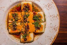 We're big fans of meatless Mondays! Crispy Tofu served with sesame peanut sauce and housemade chili oil available during dinner, Monday through Sunday. Crispy Tofu, Chili Oil, Peanut Sauce, Meatless Monday, Mondays, Avocado Toast, Vegetable Pizza, Mumbai, Vegan Vegetarian
