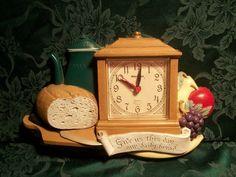 Home Decor Kitchen Clock Wall Decor Clock Retro by TKSPRINGTHINGS, $19.95