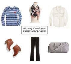 the essential contents of a Parisian woman's closet