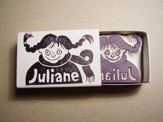 Namensstempel Juliane von Alinea auf DaWanda.com