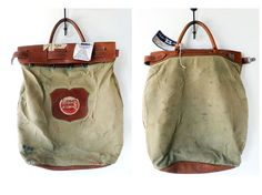 Antique Vintage Pullman Leather & Canvas by crazeecowgirlvintage, $125.00