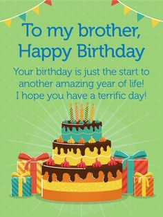 happy birthday card for brother birthday greeting cards by davia
