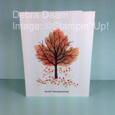 Falling Leaves Sponged Leaflet by Debra - Cards and Paper Crafts at Splitcoaststampers