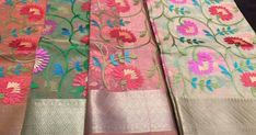 LATEST MUSLINS KASHMIRI WORK SAREES | BUY ONLINE SAREES  Muslins Kashmiri work Sarees  here is the latest muslins kashmiri embroidery work fancy sarees.fast moving latest collection.  http://ift.tt/2qx3rEr