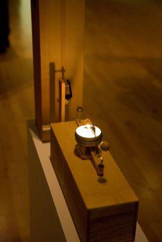 Allestimento dell'opera Nocturne (for 7 Monochords) (2011) di Edgardo Rudnitzky alla Galleria Civica di #Modena #NODE2014 foto Francesca Mora