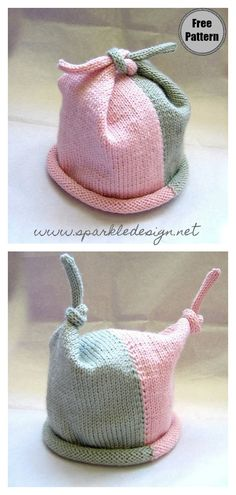 Top Knot Baby Hat Free Knitting Pattern Best Picture For Knitting crochet For Your Taste You are looking for something, and it is going to. Baby Hat Knitting Patterns Free, Baby Hats Knitting, Knitting For Kids, Easy Knitting, Knitting Stitches, Baby Patterns, Crochet Patterns, Free Pattern, Pattern Sewing