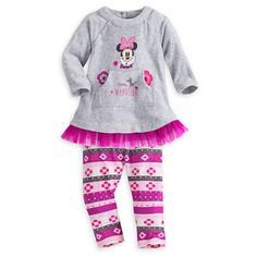 Minnie Mouse Dress and Leggings Set for Baby