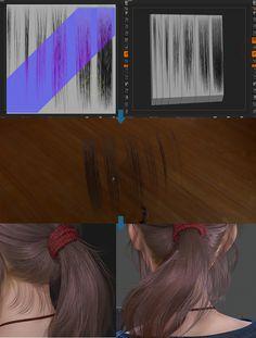 girl hair workflow by Demon Hughes