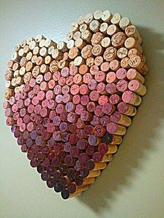 purple ombre wine corks wedding backdrop ideas