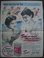 Aust TONI - HOME HAIR PERM SALON LARGE ORIGINAL'53 VINTAGE PRINT ADVERTISEMENT