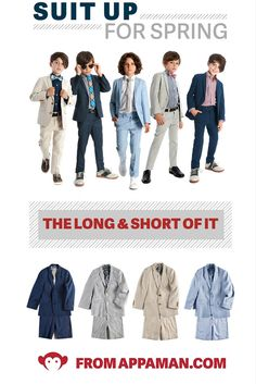 The coolest boys suits for spring and summer are on Appaman.com. We put a ridiculous amount of detail in our  suits. From the monkey logo lining to the adjustable waist and hems, our suits will last for many seasons to come. Choose from a shorts suit or a pants suit to suit his style.